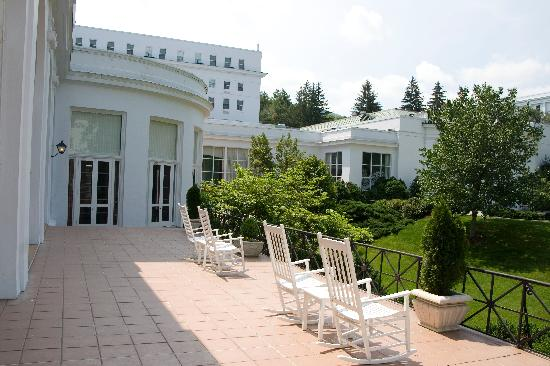The Greenbrier: Back porch