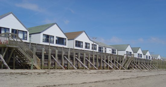 Truro, MA: Low tide view of the White Village