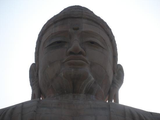 Bodh Gaya, India: Serenity on the Giant Buddha statue