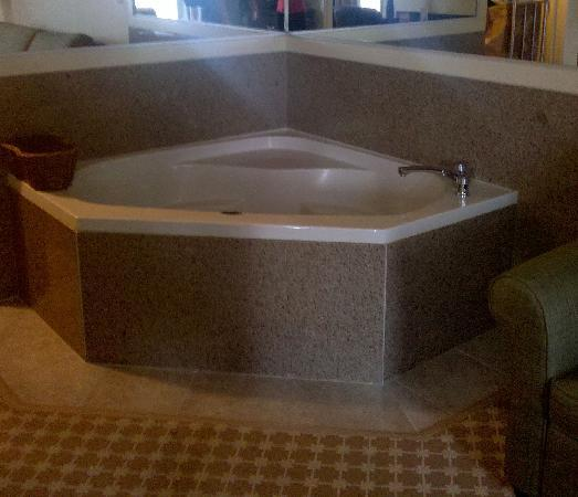 Country Inn & Suites Asheville at Biltmore Square: Hot tub in LR big enough for two!