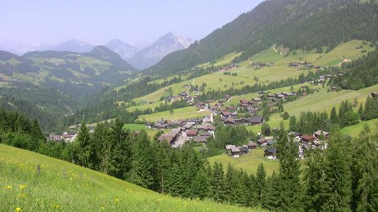 Alpbach, Austria: View from the front of the hotel