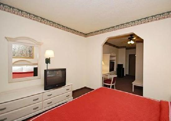 Comfort Suites: Our spacious suite. Each suite has a separate living room area and a separate sleeping area.