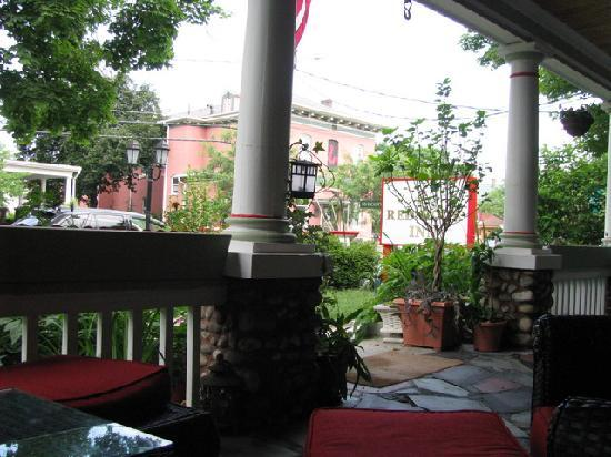 The Red Hook Country  Inn: From the Veranda in front of the House