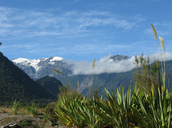 Franz Josef, New Zealand: View from our villa