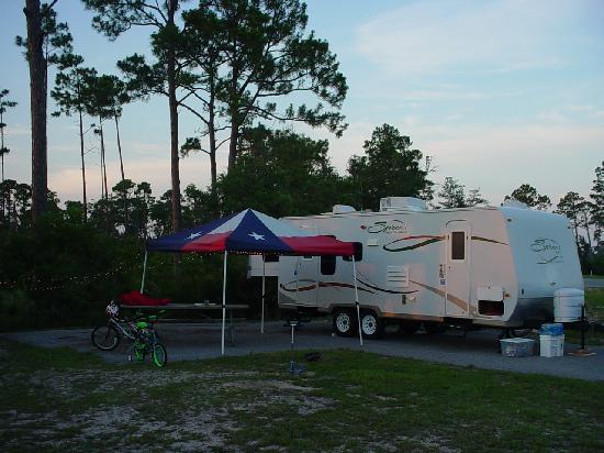 Gulf State Park: Our campsite