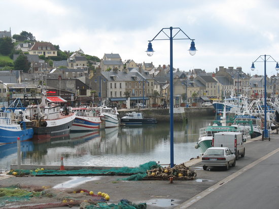 Port-en-Bessin-Huppain, France : View from the Balcony