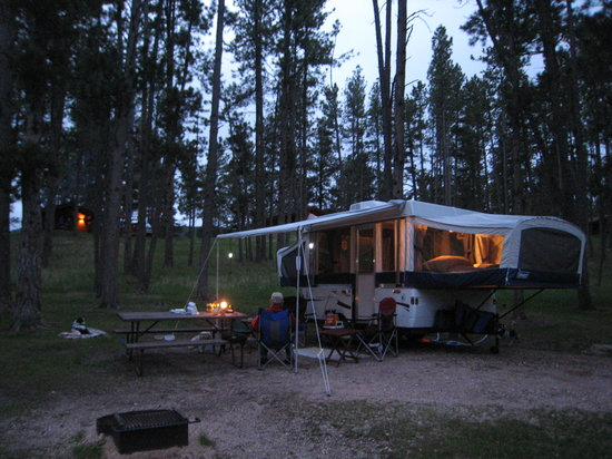 Rafter J Bar Ranch Campground: Our first night