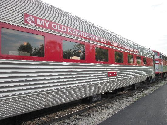 Bardstown, KY: Three available dining cars, we rode in 777