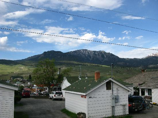 Hillcrest Cottages: View from our Cottage of the town and Mountains