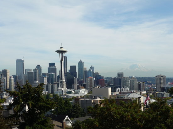 Seattle, Etat de Washington : View from Kerry park 