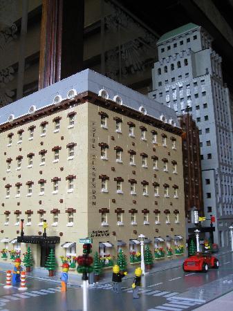 Hotel Clarendon: Lego model of the Clarendon in the lobby