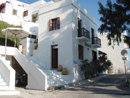 Adamas, Greece: Frontal view of Villa Notos