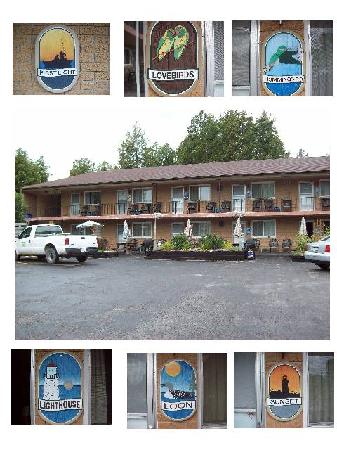 Cedar Court Motel: Each room having its own unique name