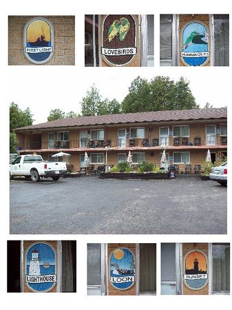 Cedar Court Motel: Each room with its own unique name