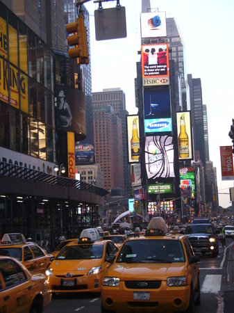 New York by, NY: Middle of Times Square