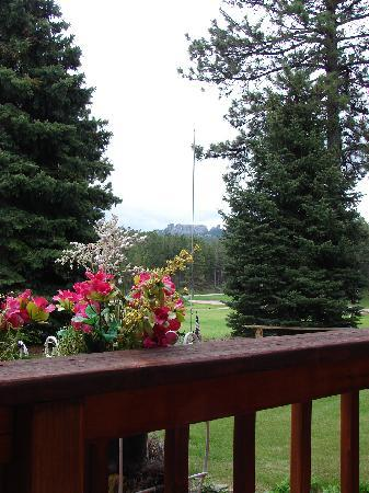 Elk Ridge Bed & Breakfast: view toward mt. rushmore