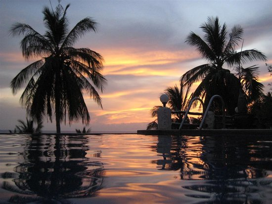 The Rocks Luxury Villas: From the pool at sunset!