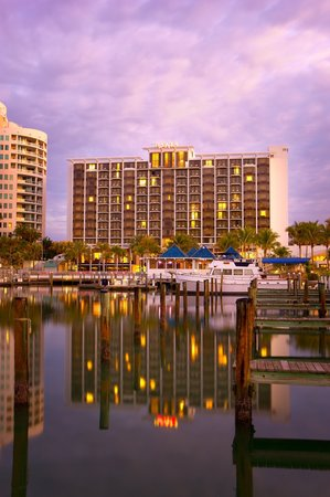The beautiful Hyatt Regency Sarasota on Sarasota Bay
