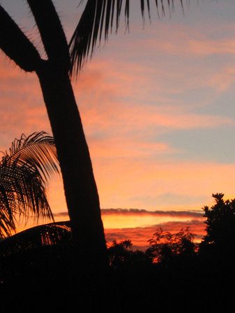 Playa Maroma, Mexico: Not a postcard. The sunset view outside the balcony