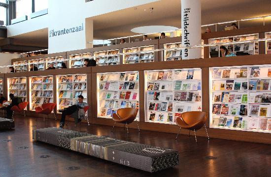 Oba magazine department picture of central library for Bibliotheek amsterdam