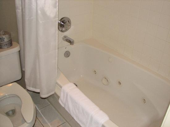 Ophelia's Restaurant and Inn: TINY jet tub in the suite.