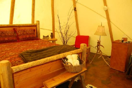 """Cherry Wood Bed Breakfast and Barn: a view from the """"door"""" of the teepee"""