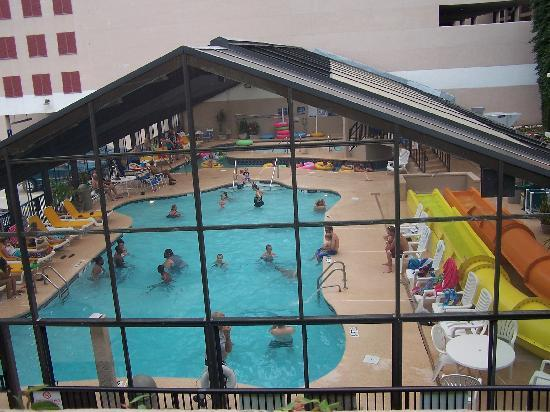 View from balcony oceanfront efficiency pinnacle tower - Indoor swimming pool myrtle beach sc ...