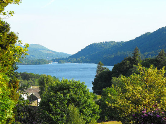 The view of Lake Windermere