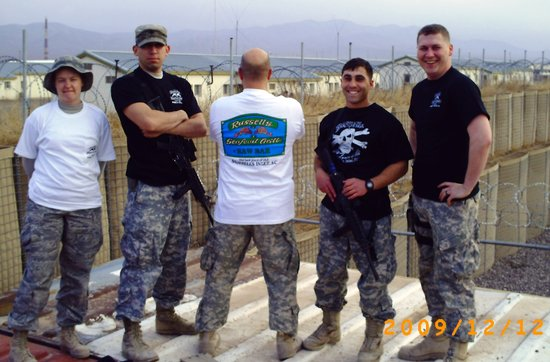 Murrells Inlet, SC: Our troops in Afghanistan with Russell's tees