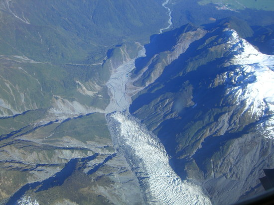Franz Josef, Selandia Baru: Fox Glacier from Wilderness Wings flight