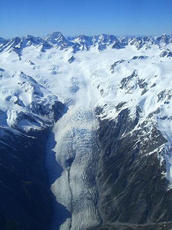 Franz Josef, Selandia Baru: FJ glacier from Wilderness Wings flight