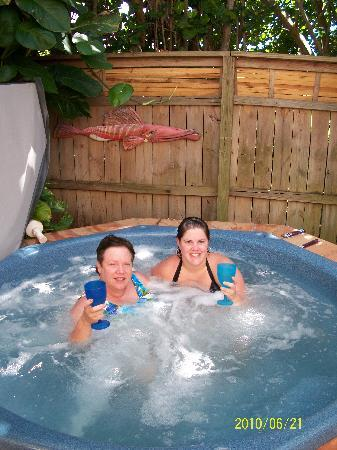 "Beach Bungalow: ""Chillin in the hot tub"