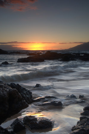 Maui, HI: Taken at Kamaole lll at sunset