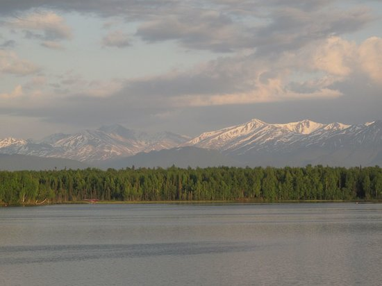 Wasilla, AK: Lake Lucille from Our Room