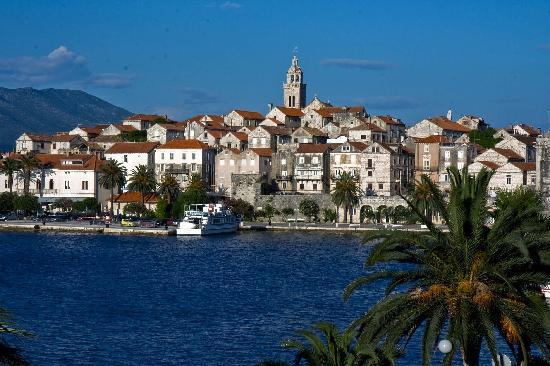 Korcula Town, Croatia: view from our room