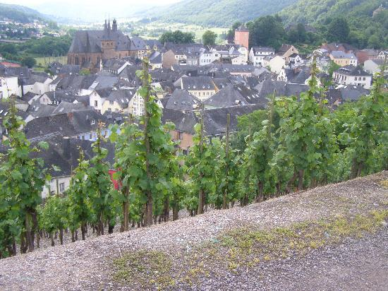 Saarburg, Duitsland: Half way back up to Landal Warsberg