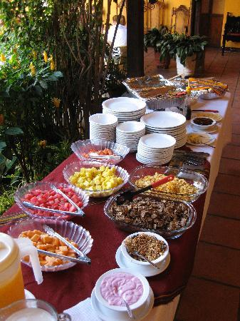 Breakfast at the Hotel Casa Antigua.