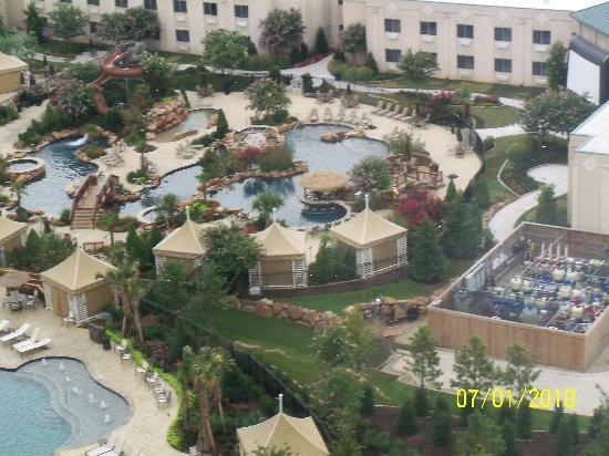 View of pool areas from our room picture of choctaw for Pool show okc