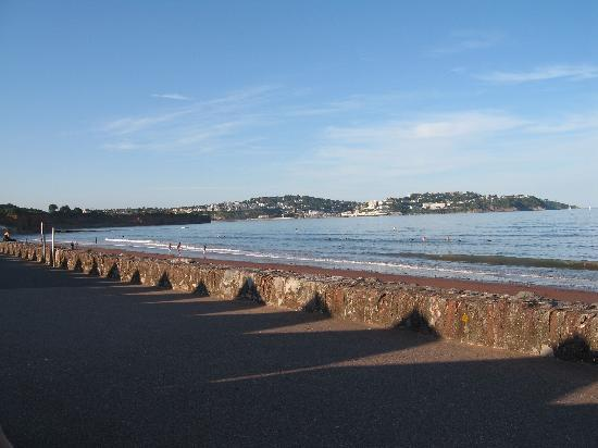 The quiet seafront at Paignton