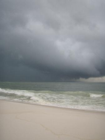 Sugar Beach: outer bands of TS Alex