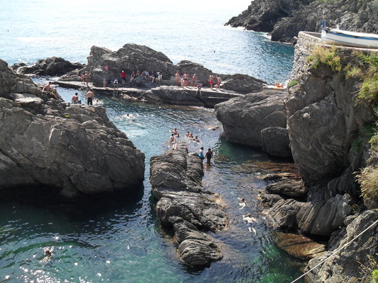 Manarola, Italy: Bring your swim suit