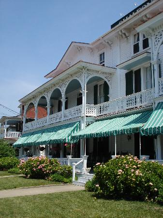 The Chalfonte: The front of the hotel and that LONG porch!
