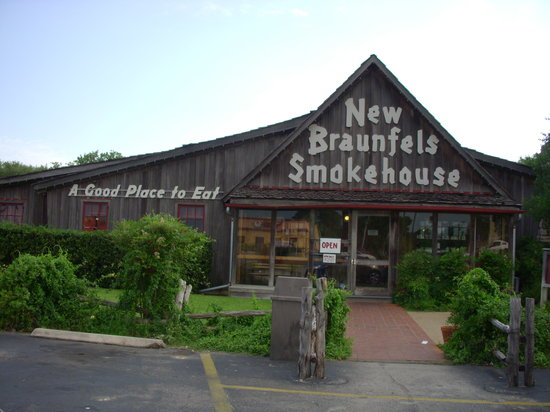 view map of New Braunfels Smokehouse. Free New Braunfels Guide