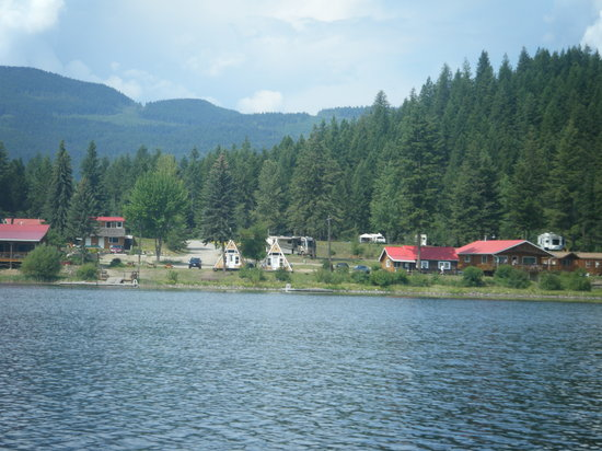 Clearwater, Canada: View of the resort from Dutch Lake