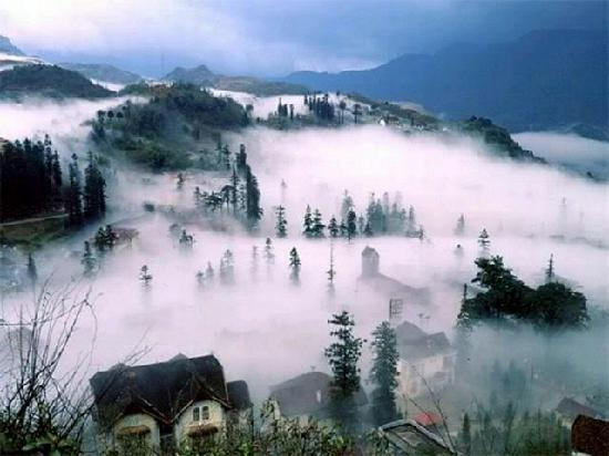 Mysterious and cloudy Sapa
