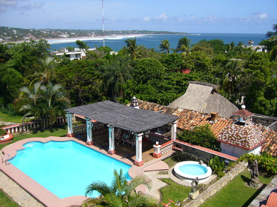 Hotel Paraiso Escondido: Vista de la baha de Puerto Escondido