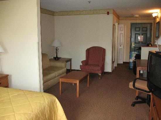Comfort Inn & Suites: Looking back from the window after packing up.