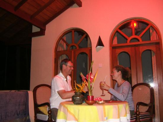 Shangri-Lanka Villa: Dinner on the Balcony