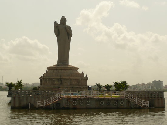 Hyderabad, Inde : Isola del Budda