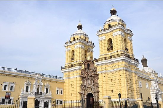 , : The Church and Monastery of San Francisco (exterior) in Lima, Peru